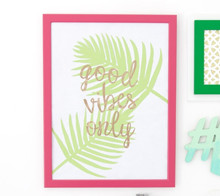 Palm trees good vibes wall art